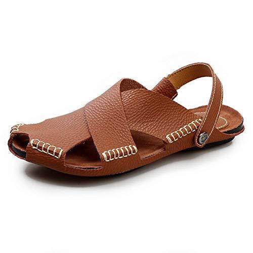 Pantofole E 43 Da Sandali Da Antiscivolo Brown Uomo Traspiranti Da Uomo Esterno Traspiranti Sconosciuto Baotou In Spiaggia Pelle Da Oc6SzSqUw