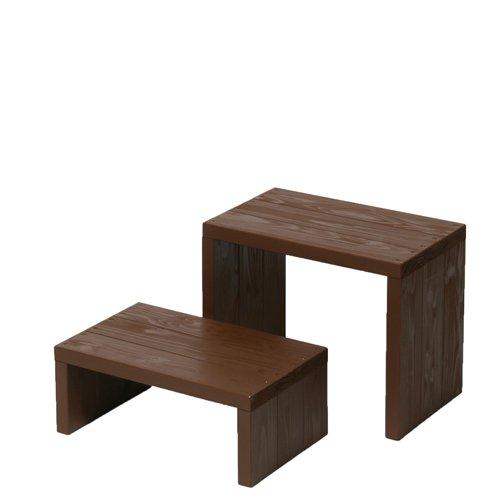 Welcome wood ウッドステージWSW452LM-CB 2段ワイドタイプ  色はカフェブラウン(CB)  【完成品】 組み立てる必要なし。  個別に移動できるのでとっても便利。 B00FNB90SE  (CB)カフェブラウン