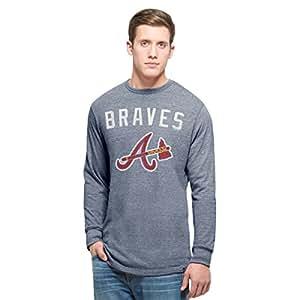 MLB Atlanta Braves Men's 47 Team Tri-State Long Sleeve Tee, Small, Nightfall