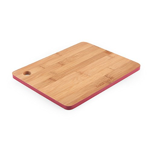 - Farberware Colourworks Bamboo Cutting Board with Red Edges, 8-Inch-by-10-Inch