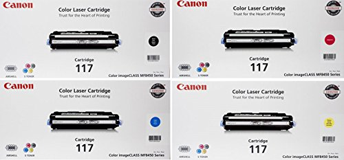 Canon OEM Toner Four Cartridge Set 117 CRG-117, 2575B001,...