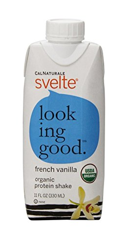 CalNaturale Svelte Organic Protein Shake, French Vanilla, 11 Ounce (Pack of 8)