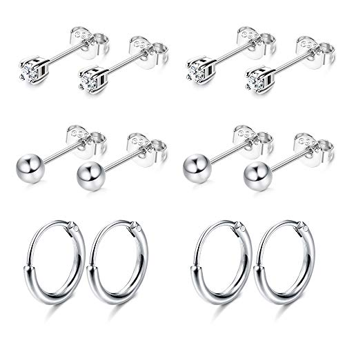 Sllaiss Sterling Earrings Cartilage Earrings Hypoallergenic product image