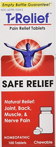 T-Relief Pain Relief 13 Natural Medicines Tablets 100 ea (Pack of 2)