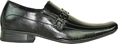 Coronado Nuevo Zapato De Vestir Para Hombre Berwin-2 Double Runner Top Strap Loafer Con Forro De Cuero Negro 7.5m