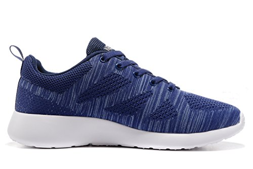Sneakers Blue Running Outdoor Casual Knit 46EU Shoes 12US Sports Mens Athletic newluhu Lightweight 7qHzzw