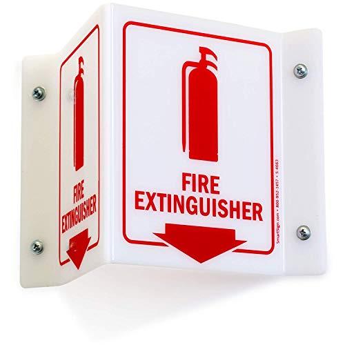 SmartSignFire Extinguisher Projecting Sign   5 x 6 Acrylic