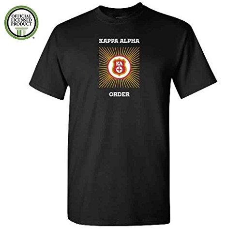 (Kappa Alpha Order Short Sleeve Tshirt- Burst Design - KA Shirt- Great Shirts For Kappa Alpha Order Rush (Large, Black))