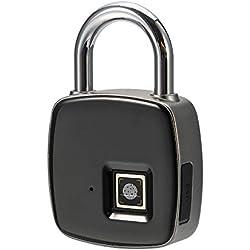 Fingerprint Padlock, USB Keyless Fingerprint Padlock Gym School Office Sports Locker, Waterproof Smart Lock Travel Luggage, Backpack, Cargo, Bike, Door
