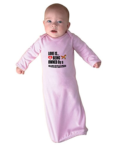 NOVA SCOTIA DUCK TOLLING RETRIEVER Love Owned Baby Rib Layette Sleeping Gown Soft - Nova Fashion Sp