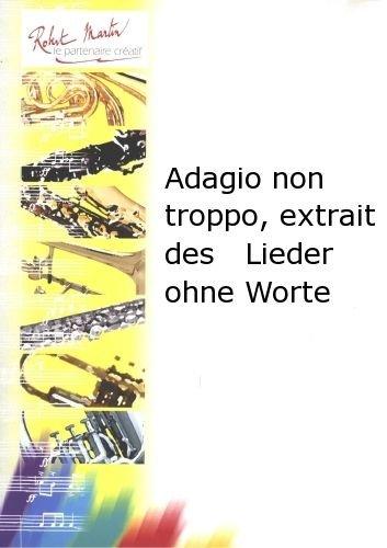 ROBERT MARTIN MENDELSSOHN F. - ADAGIO NON TROPPO, EXTRAIT DES LIEDER OHNE WORTE: Amazon.es: Instrumentos musicales