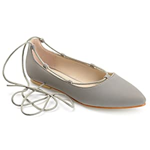 Journee Collection Womens Lace-up Pointed Toe Ballet Flats