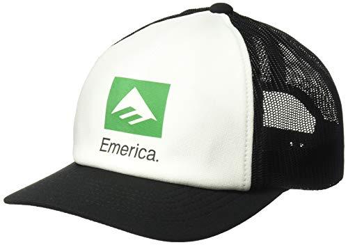 Emerica Men's Brand Combo Trucker, White/Black, One -