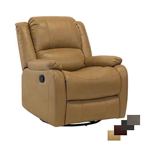 RecPro Charles Collection | 30″ Swivel Glider RV Recliner | RV Living Room (Slideout) Chair | RV Furniture | Glider Chair | Toffee For Sale