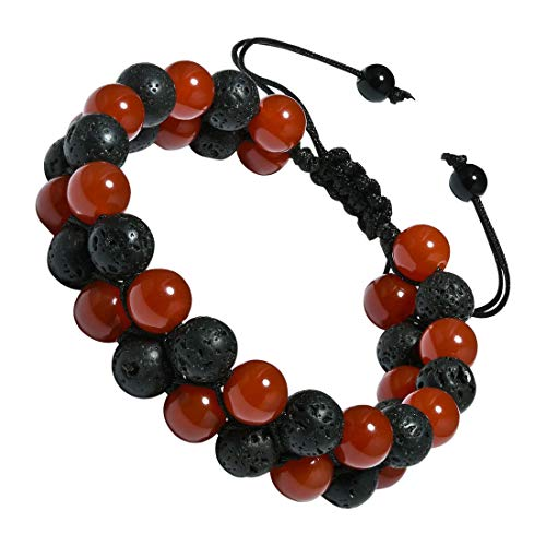 CAT EYE JEWELS Adjustable Beads Bracelet 8mm Double Layer Natural Energy Healing Stone Bracelet B001
