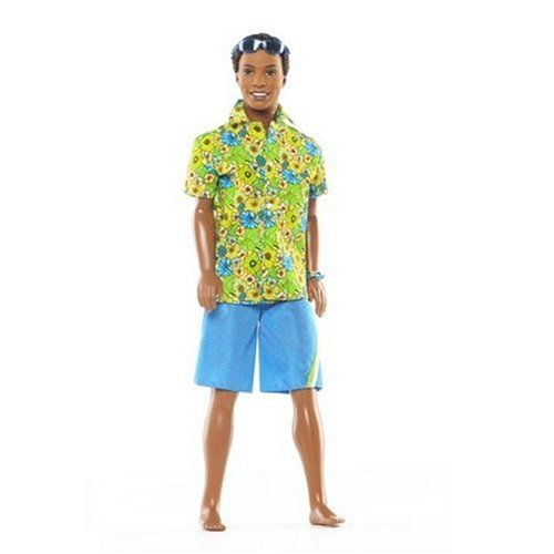 Blue Shorts and Sunglasses Mattel Steven with Hawaian Shirt Barbie Surfs Up Beach Doll