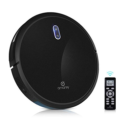 amarey A800 Robotic Vacuum – 1400pa Powerful Suction with 4 Cleaning Modes, Customizable Cleaning Schedule,360° Anti-Collision & Drop Sensor Protection, Auto Charging, Robot Cleaner for All Floors