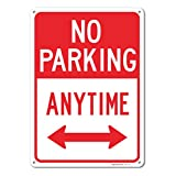 No Parking Anytime Sign, Large 10 X 14