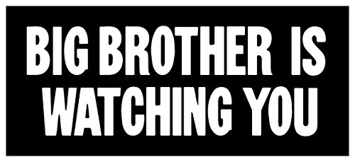 - New Sticker 1984 Big Brother Is Watching You George Orwell Nineteen Eighty-Four