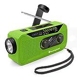 【Upgraded】 Runningsnail Emergency Weather AM/FM/NOAA Crank Radio with LED Flashlight, 2000mAh Power Bank