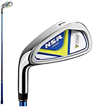 Children's Golf 7# 9# Irons Clubs NSR, Left Handed, Graphite Shaft, Stainless Steel Rod Head for 3-12 Yeas