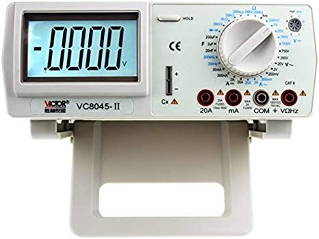NKTECH NK-51B Backlight Auto Range Digital Multimeter AC Voltage Current RMS DCA DCV Resistance Capacitance Frequency Duty Diode Continuity Test 4000-Counts Palm Meter Kit Tester