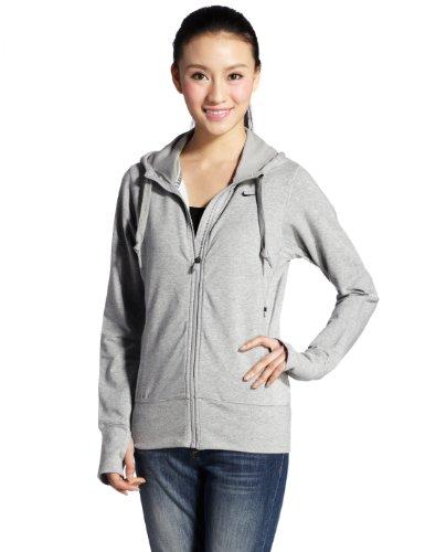 Nike Women's Therma All-TIME Hoody Full Zip S Grey (Hoodie Zip Time Full Nike All)