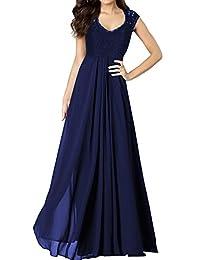 Miusol® Women's Casual Deep- V Neck Sleeveless Vintage Maxi Black Dress (3193)
