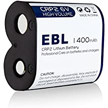 EBL CR-P2 Batteries, 6V 1400mAh Lithium Photo Battery Replaces 223A DL223A EL223AP for Camera, Electronic Lock