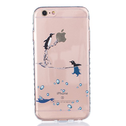 Für Apple iPhone 6 / iPhone 6S (4.7 Zoll) Hülle ZeWoo® TPU Schutzhülle Silikon Tasche Case Cover - BF076 / Dolphins