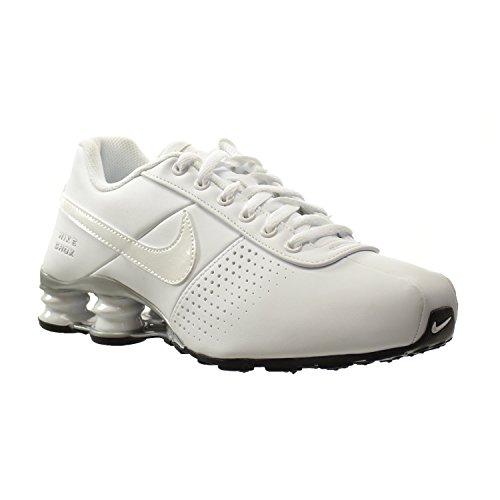 Nike Shox Deliver PNT (GS) Big Kids Shoes White White-Metallic Silver e3622229a