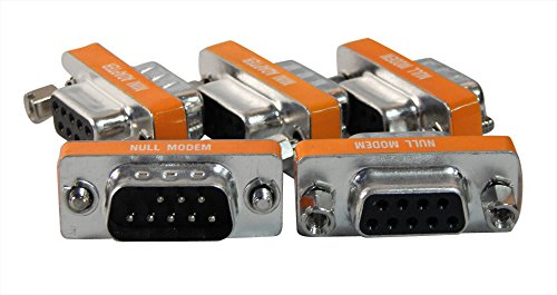 5 Pack Your Cable Store Serial Port 9 Pin Null Modem Adapter DB9 Male / Female (Female Null Modem Adapter)