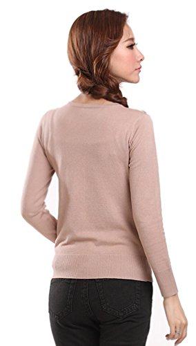 Swearter Khaki Cover Cardigan Colori Autunno Maglia Impermeabili Mooncolour Da 24 Donna aEHqwzaxv