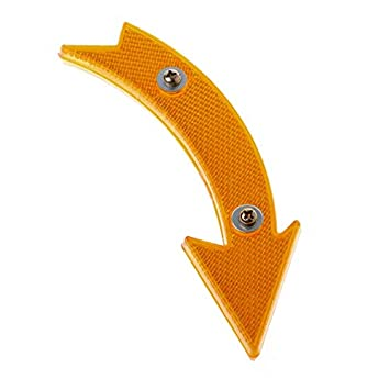 2 Pcs Road Bike Bicycle Reflector Cycling Arrow Shape Safe Warning Accessori/_ti