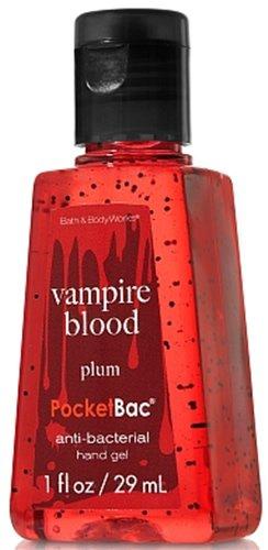 Bath & Body Works Plum Vampire Blood PocketBac Deep Cleansing Anti-Bacterial Hand Gel 1 oz (29 ml) - Glow in the Dark Label -