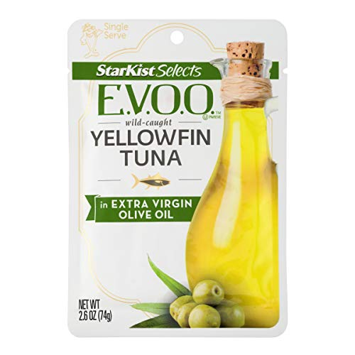 StarKist Selects E.V.O.O. Yellowfin Tuna in Extra Virgin Olive Oil - 2.6 oz Pouch (Pack of - 3s Fin
