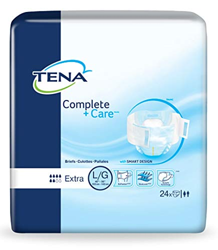 Tena Brief Complete + Care Tab Closure Large Disposable Moderate Absorbency Case of 72 ()