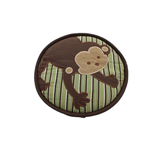 Kids Line Embroidered Baby Boy Monkey Wall Decor Brown Green