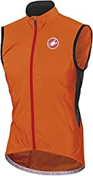 Castelli Velo Vest - Men\'s Orange Fluo/Black, XL