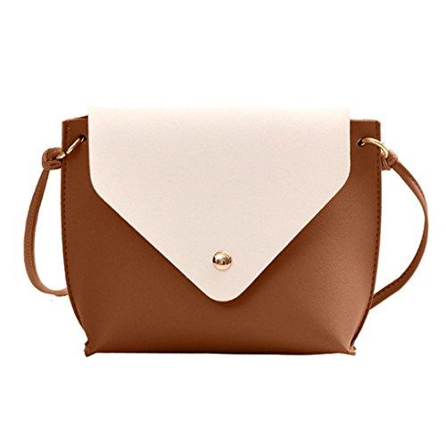 MaxFox Leather Girl Shoulder Bag Women Split Joint Travel Crossbody Bag