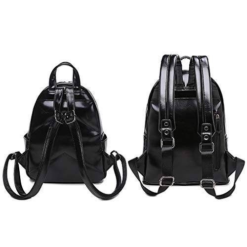 ModèLe Main à à en Sac Cuir backpack Large PU Souple Lady Noir Ordinateur Dos Occasionnel Mode Sac Sac Personnalité éTanche nqxAw4O