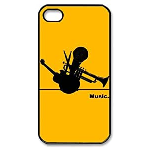 ALICASE Diy Customized hard Case Music For Iphone 4/4s [Pattern-1]
