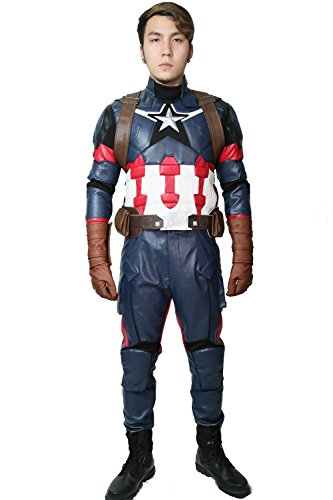 Captain Steve Rogers Costume Suit Outfit for Men Halloween Cosplay Custom Made (Custom Made Captain America Costume)