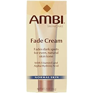 Ambi Fade Cream For Fades Dark Spots For Even, Natural Skin Tone, 2 oz