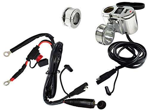 EKLIPES EK1-110 Cobra Chrome Ultimate Motorcycle USB Charging System