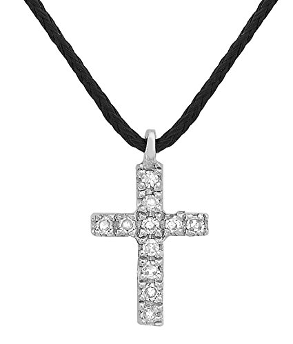 Carissima Gold - Collier - Mixte - Or blanc 375/1000 (9 cts) 0.4 gr - Diamant - 41 cm