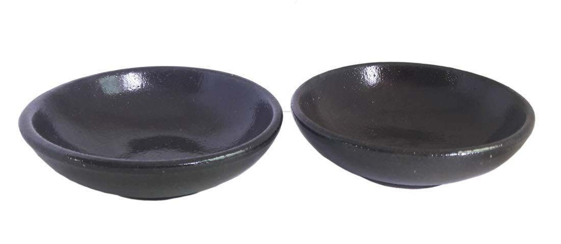 Set of 2 3.5inches Traditional Ceramic Table Sauce Dish Set for Side Dish, Sauce, Appetizers