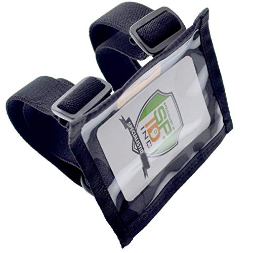 Specialist ID Ultimate Military Armband ID Badge Holder - Heavy Duty Nylon I.D Card Holder with Two Adjustable Elastic Bands - Made in The USA ()
