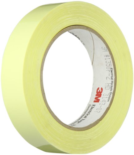 3M 1350F-2 Yellow Electrical Tape, 1″ width x 72yd length (1 roll)