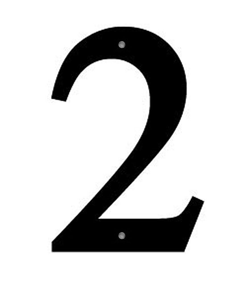 Iron Address Number House Number 2 Small 6'' - Heavy Duty Metal House Numbers and Letters, House Signs